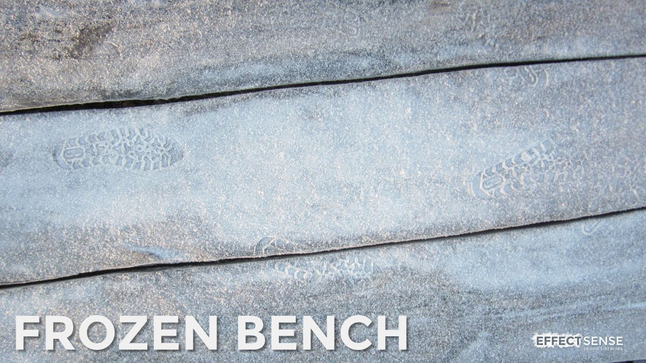 Frozen Wooden Bench Footstep Foley Sound Effects