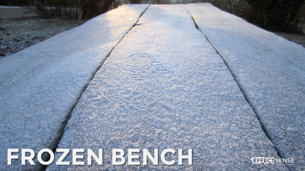 Frozen Bench Footstep Foley Sound Effects