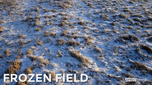 Frozen Field Footstep Foley Sound Effects