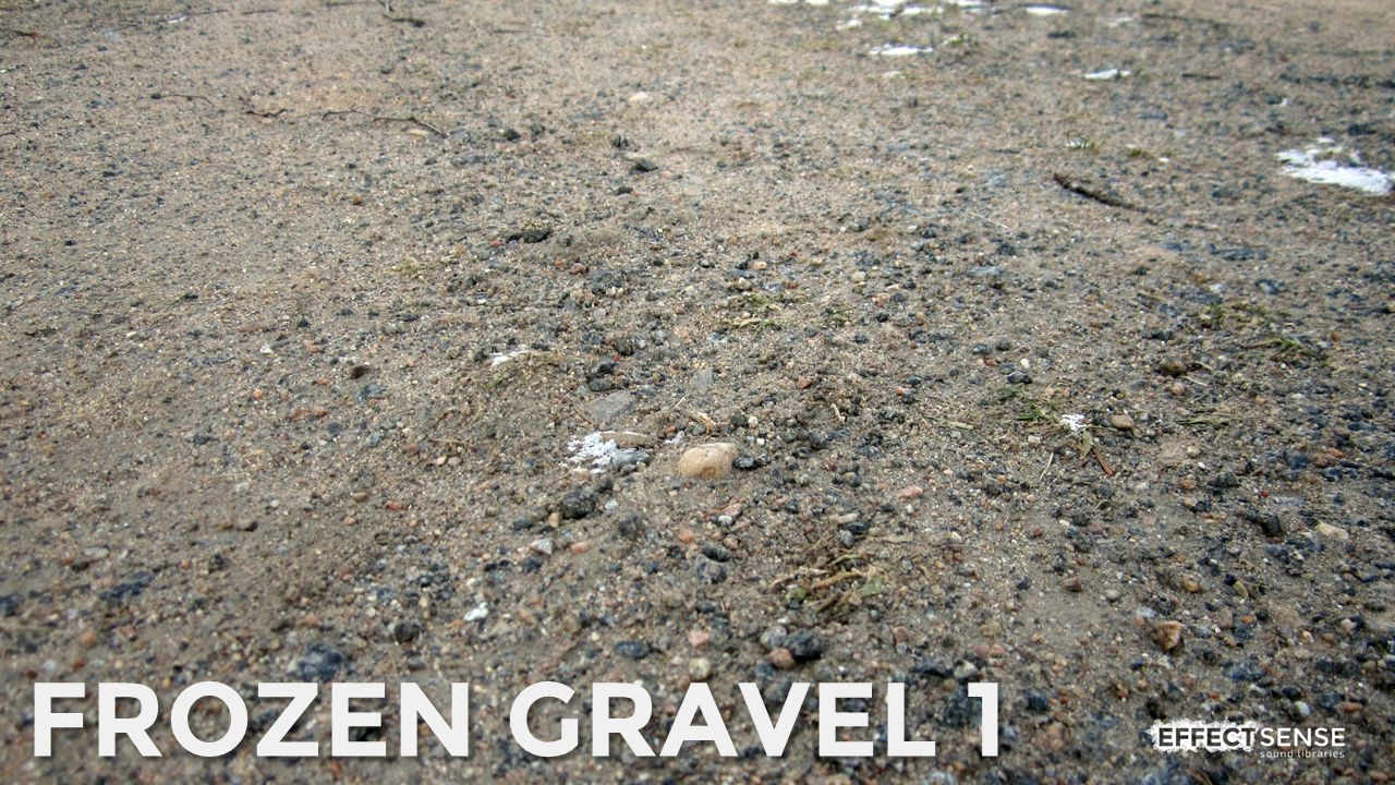Frozen Gravel Footstep Foley Sound Effects