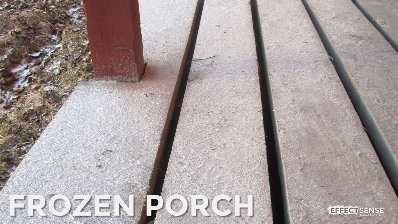 Frozen Wooden Porch Footstep Foley Sound Effects